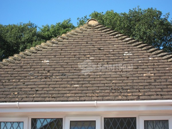 Roof tiles in original condition