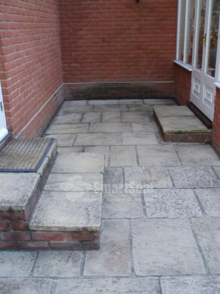 Patio area to be cleaned