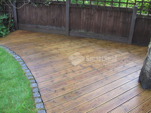 Cleaned decking
